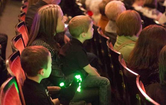 Image of young theatre audience