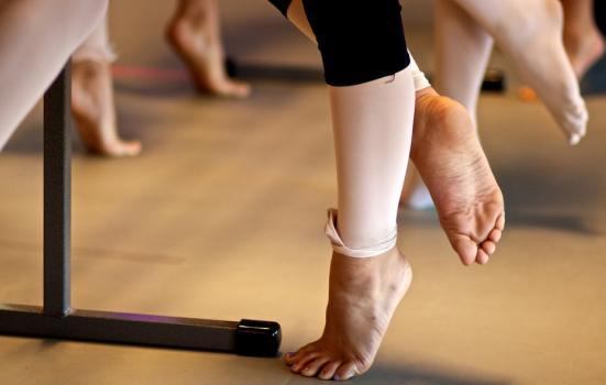 Photo of dancers' feet