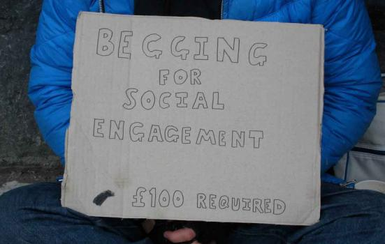 Photo of begging poster