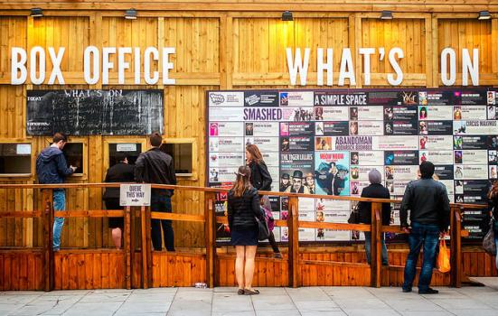 Photo of a box office