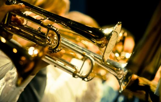 Photo of trumpets being played