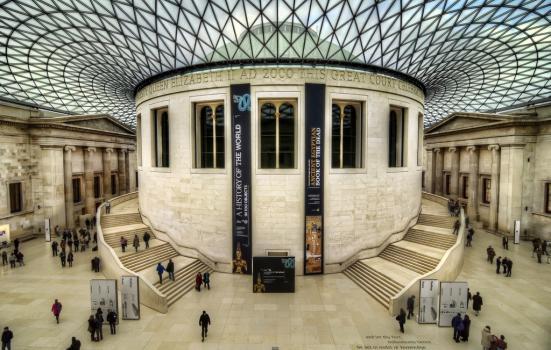 Photo of British Museum forecourt