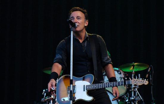 Photo of Bruce Springsteen on stage