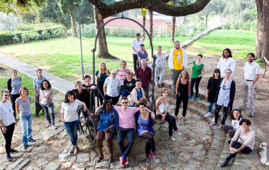 Photo of Participants of the second Creative Climate Leadership course, Slovenia October 2017. Creative Climate Leadership is led by Julie's Bicycle and co-funded by the Creative Europe Programme of the European Union.