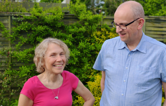 Liz Hill (left) and Brian Whitehead