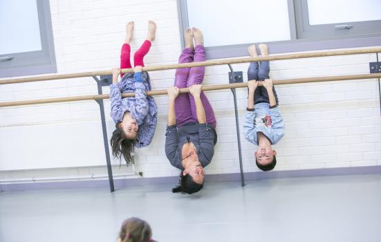 Image of children upside down