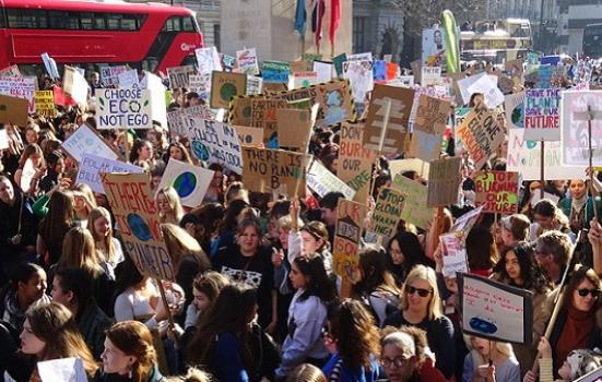 Photo of a climate strike