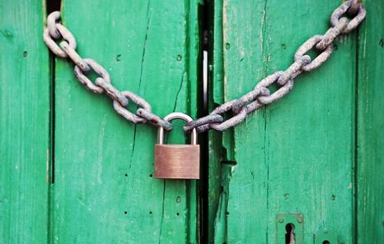 Photo of lock on door
