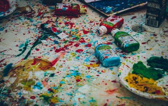 Phot of paint on the floor
