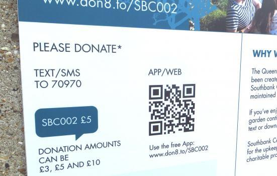 Photo of a DONATE sign