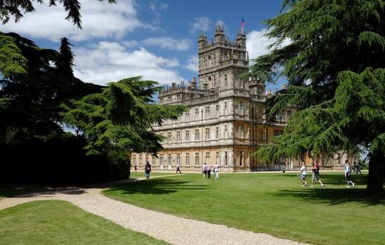 A photo of a large stately home