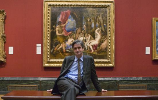 Photo of Nicholas Penny in the National Gallery