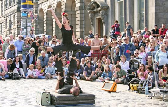 Photo of street performers