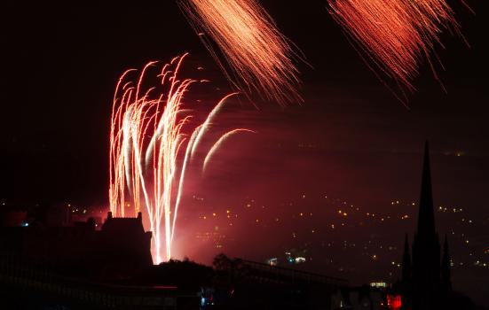 Fireworks at Edinburgh International Festival