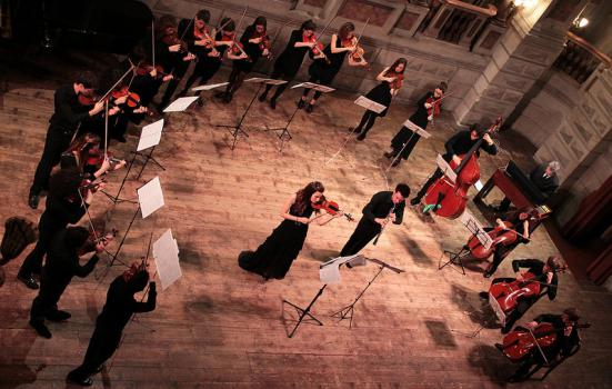 Photo of an ensemble playing