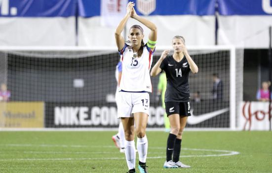 Photo of Alex Morgan, captain of the United States women's soccer team, by Jamie Smed