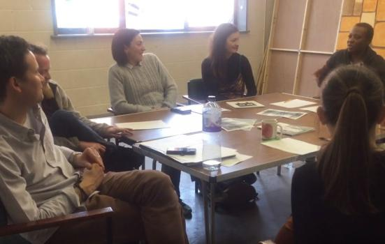 Photo of New Associates attending an early stage reading