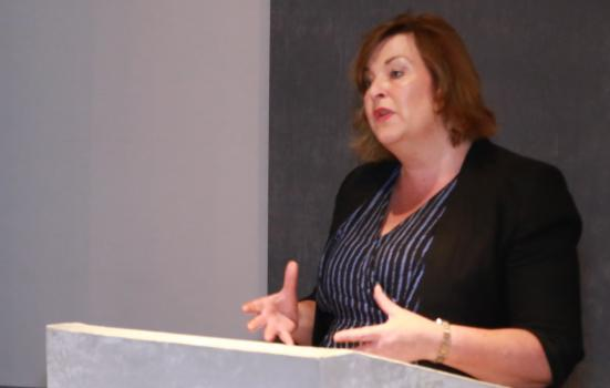 Photo of Fiona Hyslop speaking