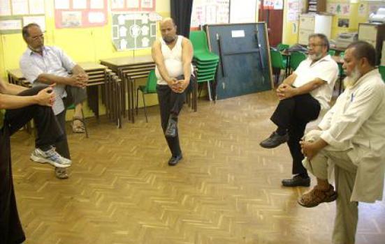 Older men dancing