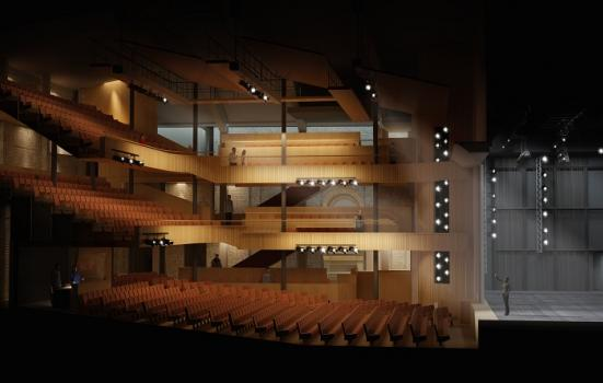 Mockup of new auditorium for Hall for Cornwall