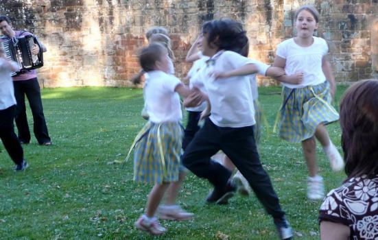 Photo of children dancing