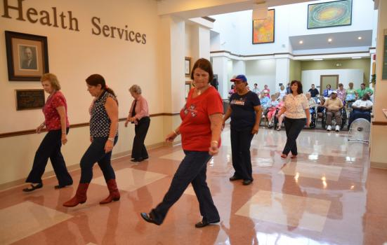 Image of dancers in hospital