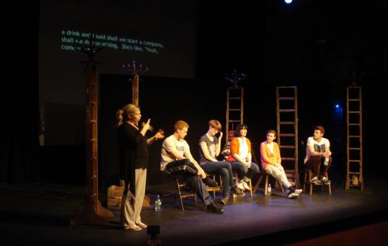 Image of a captioned Q&A session