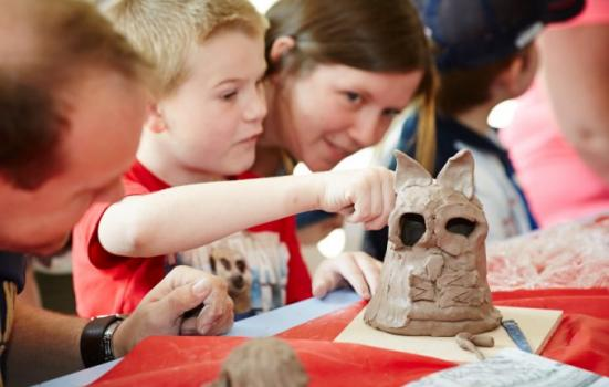 Image of clay modelling activity