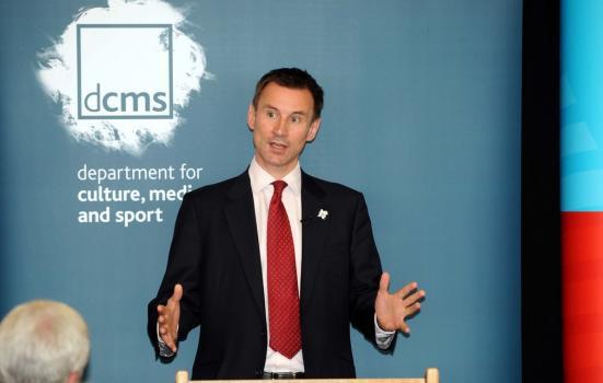Jeremy Hunt giving a speech
