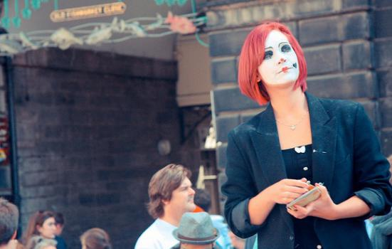 Photo of a person flyering