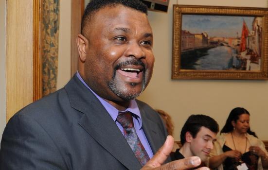 Photo of Lloyd Newton speaking