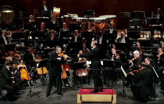 London Symphony Orchestra playing in Milan