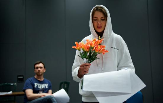 Photo of a rehearsal for Capital Theatre Festival