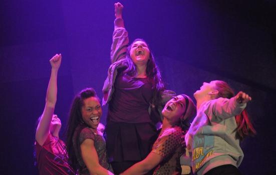 Photo of five dancers