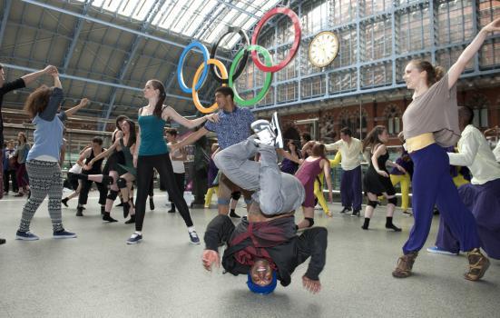 Image of the Big Dance at St Pancras