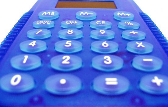 Image of blue calculator