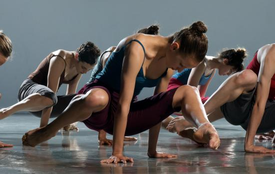 Photo of Batsheva Ensemble dancing