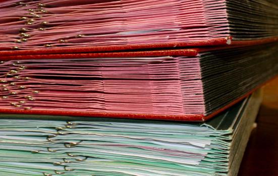Photo of pile of folders
