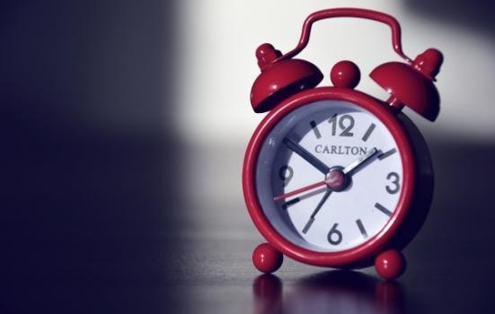 Photo of an alarm clock