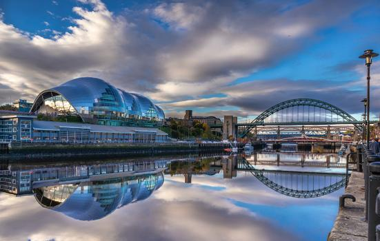 Newcastle Gateshead Cultural Venues skyline