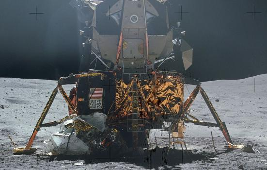 Apollo 16 LM on lunar surface (NASA)