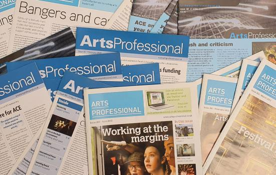 ArtsProfessional magazine's physical archive