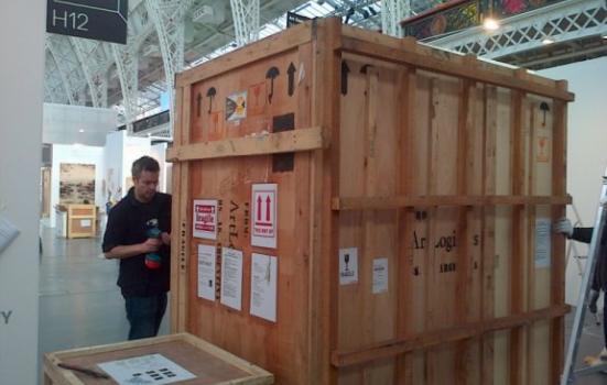 Image of crates at Art14