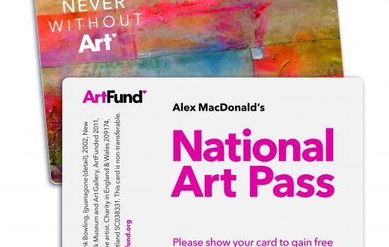 Image of National Arts Pass card