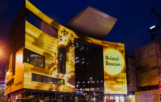 Outside of the Bristol Beacon