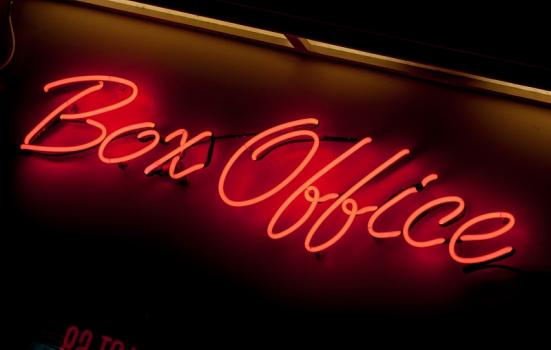 'Box Office' in neon lights