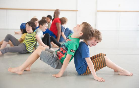 Photo of boy sin a dance class
