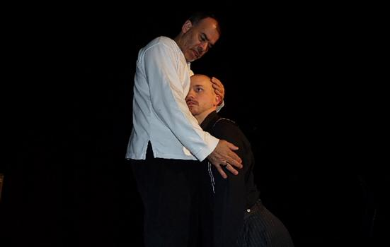 Image of two men in embrace