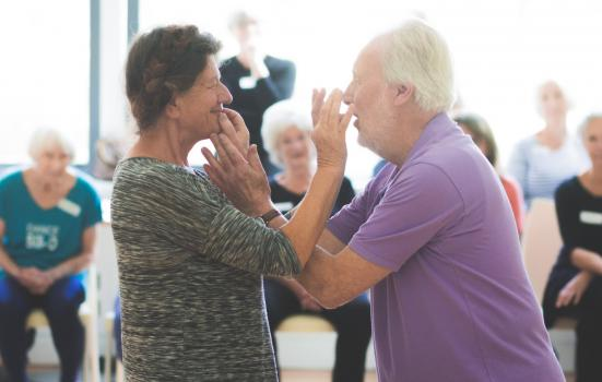 Photo of man and woman dancing