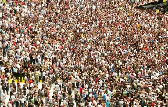 Image of large concert crowd
